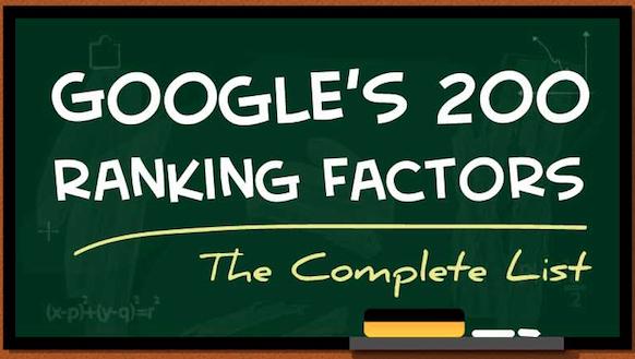 Google´s 200 ranking factors