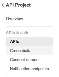 Google API Console API
