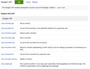 Google API calls
