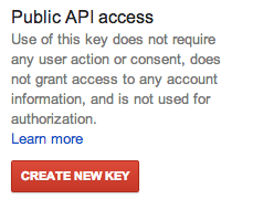 Google API access