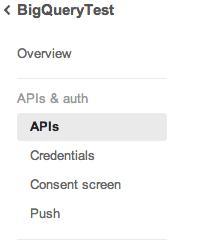 API sidebar