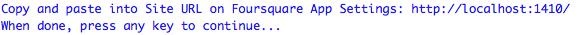 R foursquare redirect URL